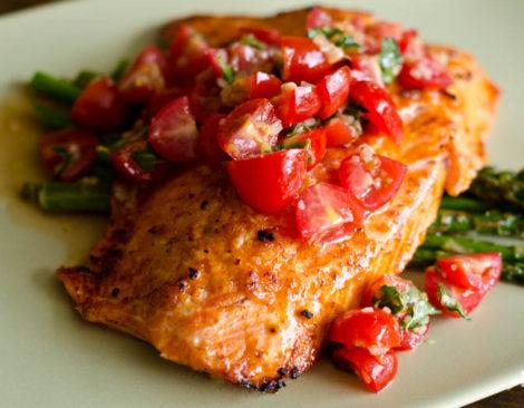 Tomatoes & Salmon Salsa